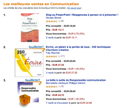 Stop au PowerPoint n°1 Amazon - Nicolas Beretti